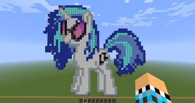 My Minecraft Pixel Pony Vinyl Scratch