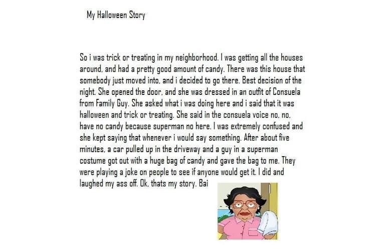 My halloween story