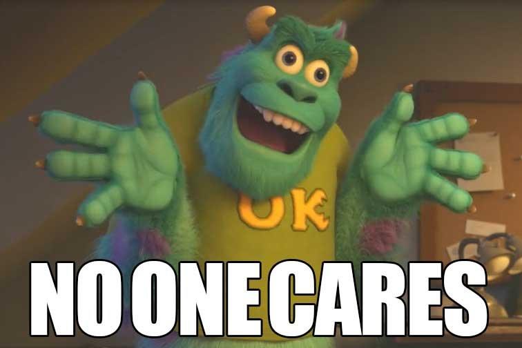Funny Meme No One Cares : No one cares