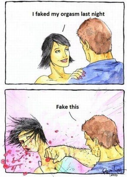 Fake orgasam