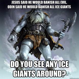 Odin: 1 Jesus: 0