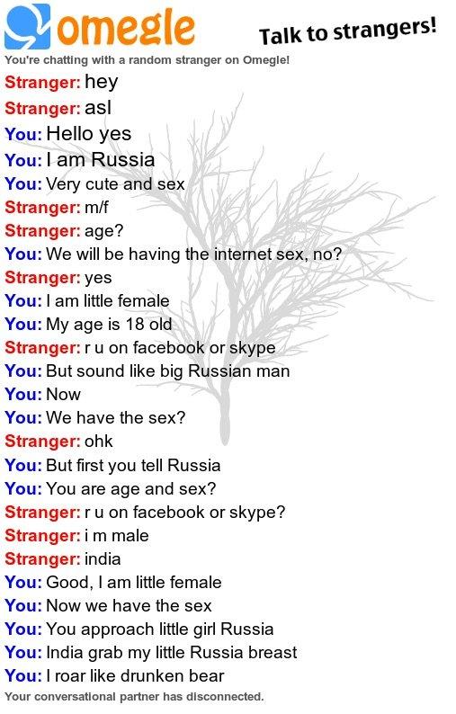Omegle random chat russia
