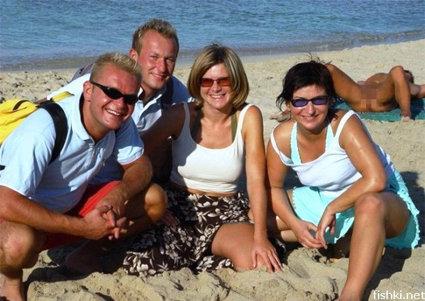 Nude beach family photos