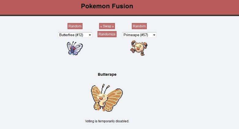 pokemon fusion butterape