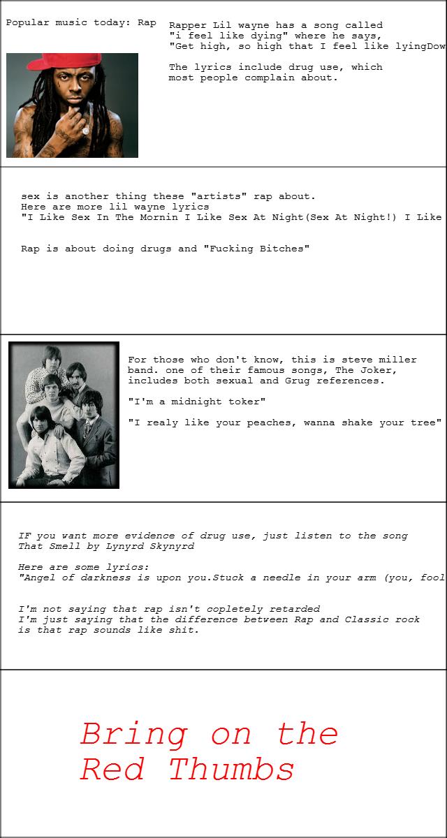 Lyric songs about sex lyrics : Rap vs. Classic Rock