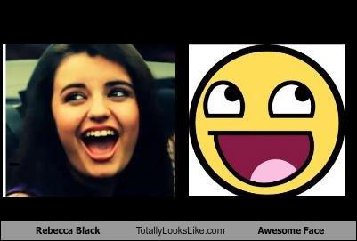 Funny Meme Smiley : Rebecca black looks like a smiley face