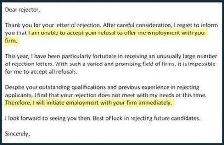 Refusal Letter.