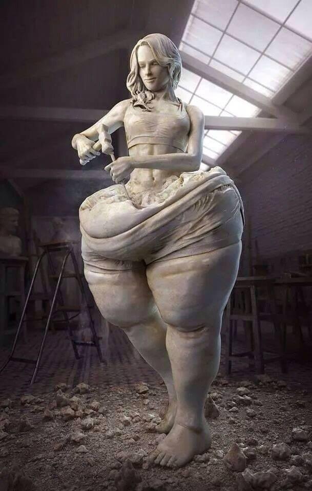 порно со скульптурой