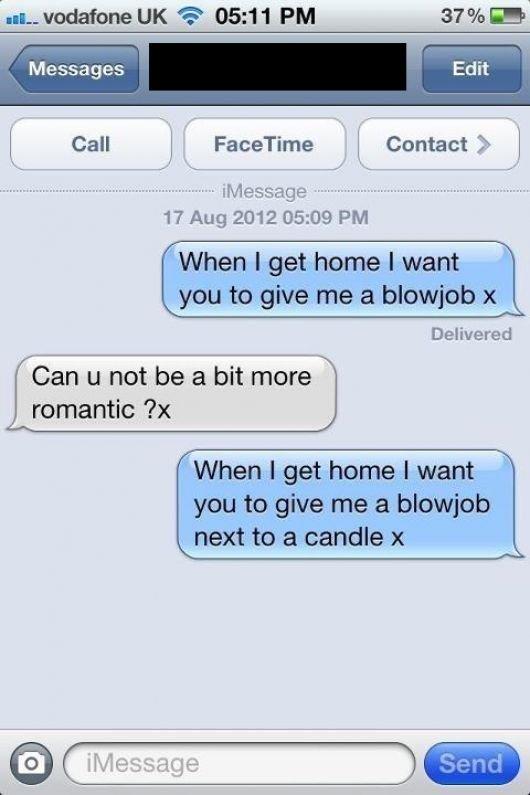 Blowjob sexting