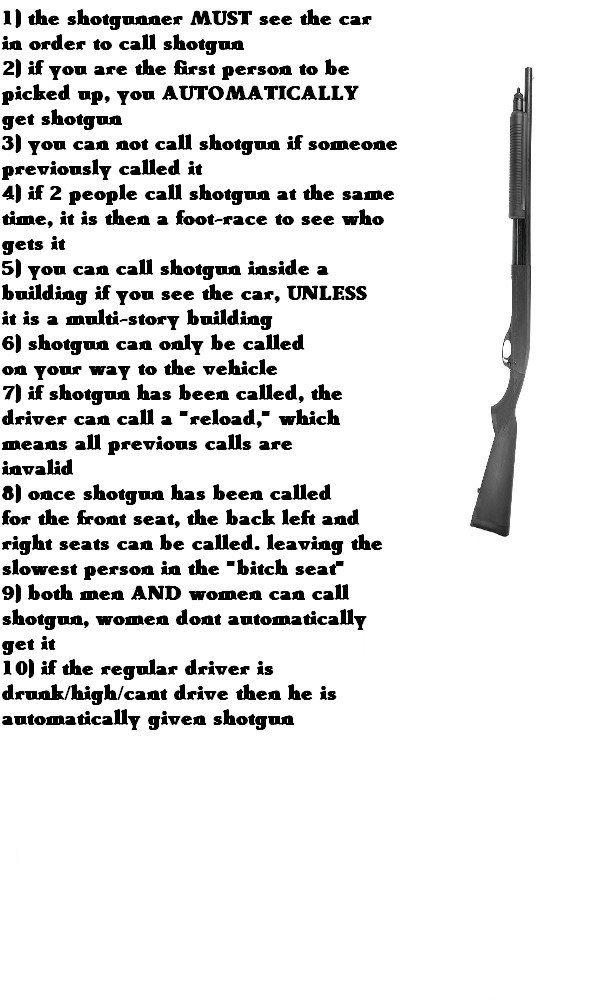 an analysis of the shotgun rule by charlie hustona
