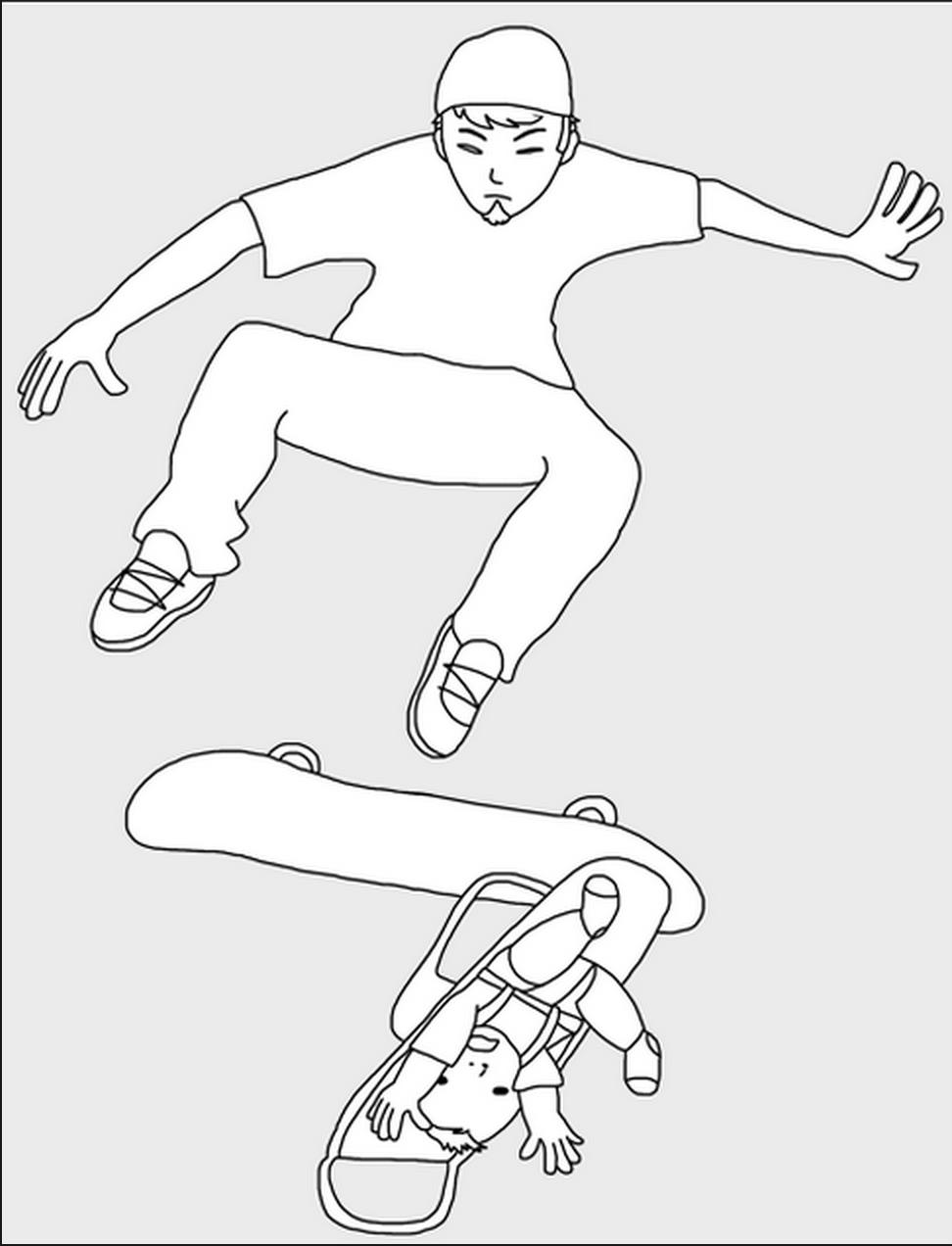 skateboard baby stroller drawing