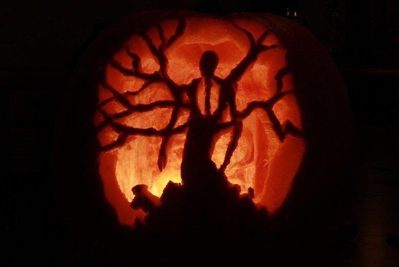 Slenderman pumpkin