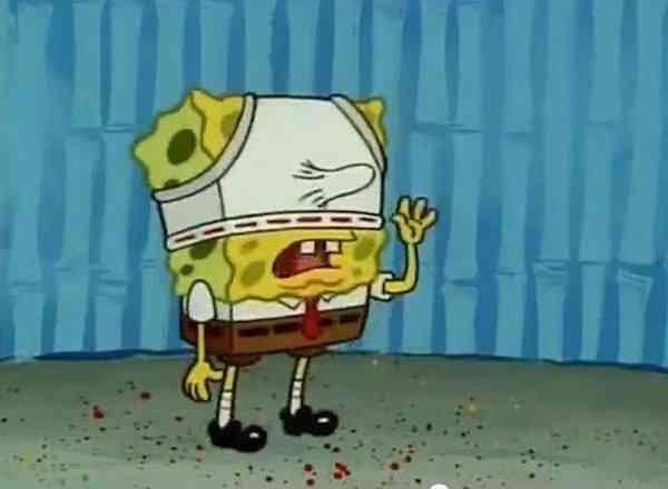 & Spongebob pitching a tent