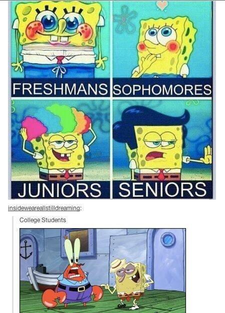 spongebob school