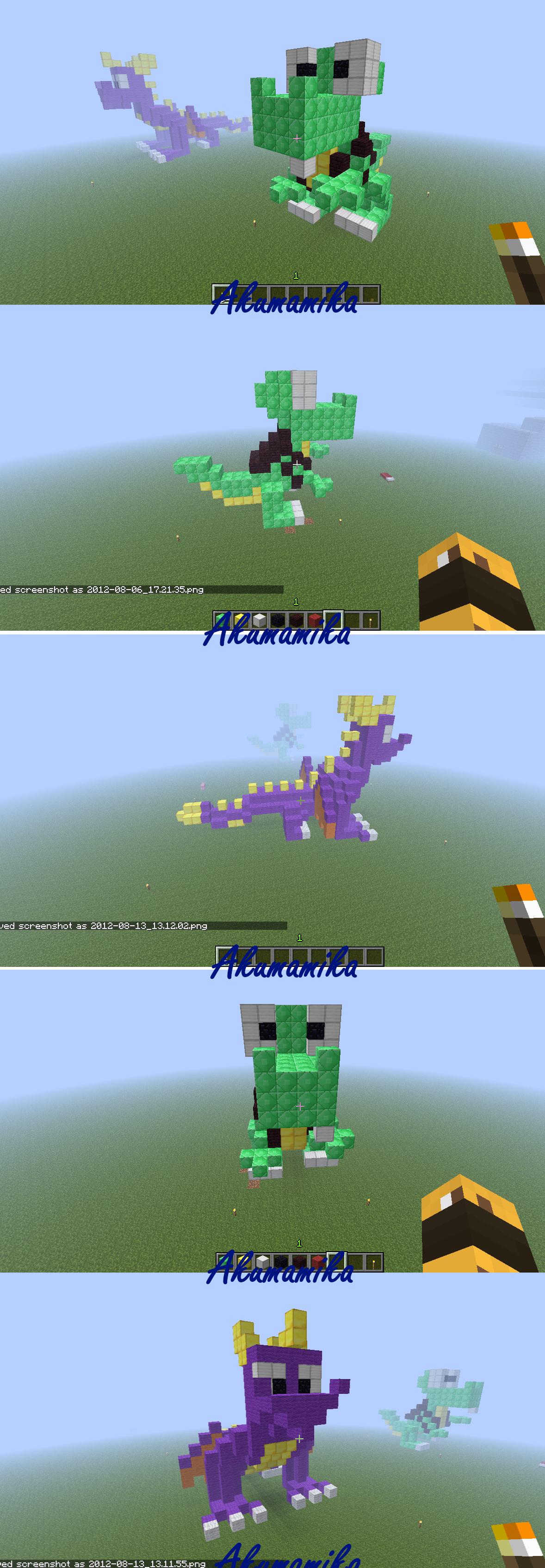 Spyro N Croc In Minecraft
