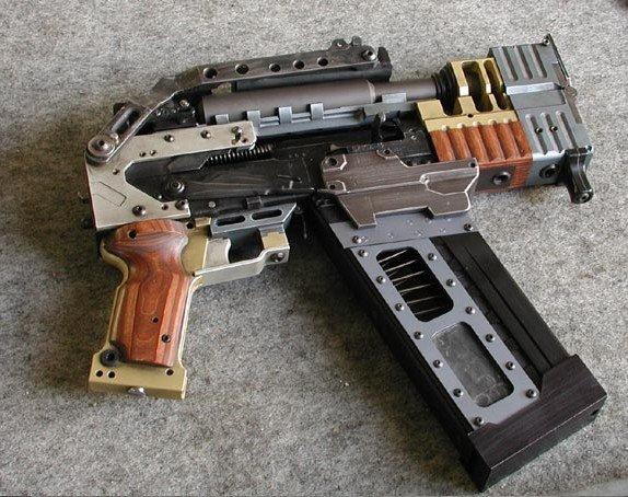 Steampunked Draco Pistol