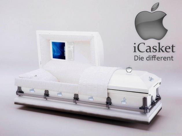 Steve Jobs casket