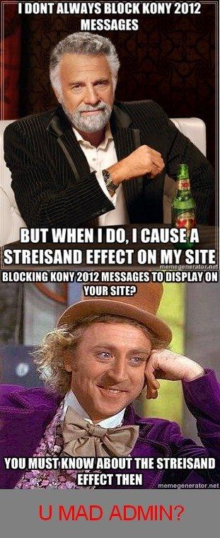Streisand Effect Meme