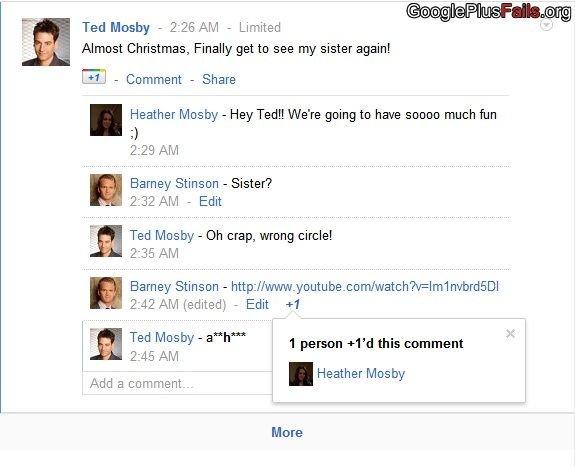 Funny Google Plus Fails