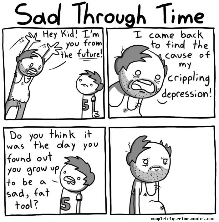 Image result for time travel depression cartoon