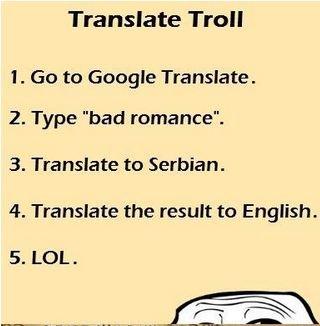Translate Tron 1 Go To Georgie 2 Type