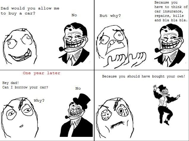 Troll Dad Comic