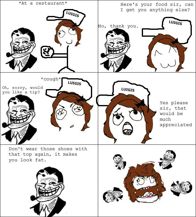 funny restaurant life troll customer