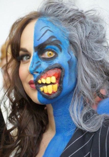 Twoface makeup for halloween