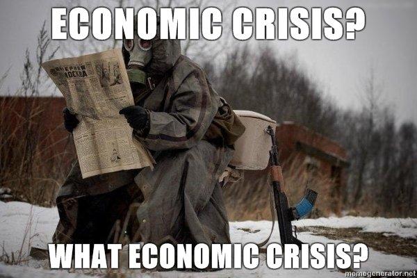 ukraine gas mask economic crisis