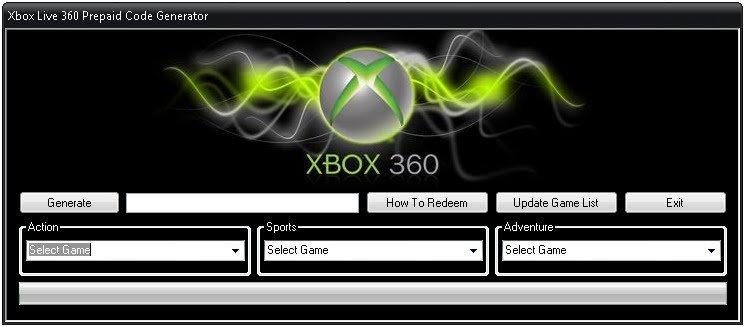 xbox 360 code generator free xbox live. Black Bedroom Furniture Sets. Home Design Ideas
